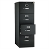 510 Series Four-Drawer Full-Suspension File, Legal, 52h x25d, Black