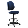 7700 Series Swivel Task stool, Blue