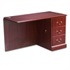 "HON 94000 Series ""L"" Workstation Right Return, 48w x 24d x 29-1/2h, Mahogany"