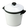 Hormel Ice Bucket, Three-Quart w/Lid, Insulated Shatterproof Liner, White w/Black Trim