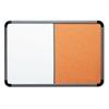 Iceberg Ingenuity Combo Dry Erase/Cork Board, Resin Frame, 48 x 36, Charcoal Frame