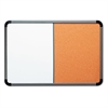 Ingenuity Combo Dry Erase/Cork Board, Resin Frame, 48 x 36, Charcoal Frame