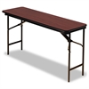 Premium Wood Laminate Folding Table, Rectangular, 60w x 18d x 29h, Mahogany
