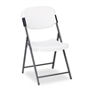 Rough N Ready Series Resin Folding Chair, Steel Frame, Platinum
