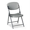 Iceberg Rough N Ready Series Resin Folding Chair, Steel Frame, Charcoal