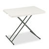 IndestrucTables Too 1200 Series Resin Personal Folding Table, 30 x 20, Platinum