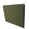 Hanging File Folders with Innovative Top Rail, Legal, Green, 20/Pack