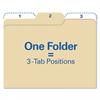 find It Findit File Folders, 1/3 Cut, 11 Pt Stock, Letter, Manila, 80/Pack