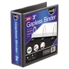 "find It Gapless Loop Ring View Binder, 11 x 8-1/2, 3"" Capacity, Black"