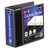 "find It Gapless Loop Ring View Binder, 11 x 8-1/2, 5"" Capacity, Black"