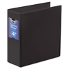 "find It Gapless Loop Ring Binder, 11 x 8-1/2, 4"" Capacity, Black"