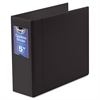 "Gapless Loop Ring Binder, 11 x 8-1/2, 5"" Capacity, Black"