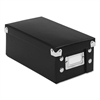 Snap-N-Store Collapsible Index Card File Box, Holds 1,100 3 x 5 Cards, Black