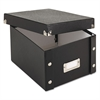 Snap-N-Store Collapsible Index Card File Box, Holds 1,100 5 x 8 Cards, Black
