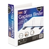 "find It Gapless Loop Ring View Binder, 11 x 8-1/2, 3"" Capacity, White"