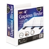 "find It Gapless Loop Ring View Binder, 11 x 8-1/2, 4"" Capacity, White"