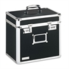 Vaultz Locking Security Storage Box, Letter, 13 1/2w x 10 1/2d x 13 1/4h, Black