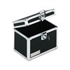 Locking Index Card File with Flip Top Holds 450 4 x 6 Cards, Black