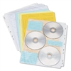 Innovera Two-Sided CD/DVD Pages for Three-Ring Binder, 10/Pack