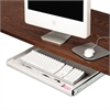 "Standard Underdesk Keyboard Drawer, 21 3/8""w x 12 7/8""d, Light Gray"