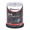 Innovera CD-R Discs, 700MB/80min, 52x, Spindle, Silver, 100/Pack