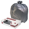 Jaguar Plastics Low-Density Commercial Can Liners, 60gal, 1.3mil, Gray, 100/Carton