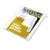 "Kleer-Fax 80000 Series Legal Exhibit Index Dividers, 1/26 Cut Tab, ""A"", White, 25/Pack"