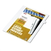 """80000 Series Legal Exhibit Index Dividers, Side Tab, """"G"""", White, 25/Pack"""