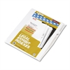 "Kleer-Fax 80000 Series Legal Index Dividers, Side Tab, Printed ""6"", 25/Pack"