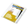 "80000 Series Side Tab Legal Index Divider Set, Printed ""76""-""100"""