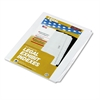 80000 Series Blank Side Tab Divider Set, 25-Tab, Letter, White, Unpunched