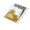 """80000 Series Legal Exhibit Index Dividers, Side Tab, Printed """"17"""", 25/Pack"""