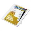 """80000 Series Legal Index Dividers, Side Tab, Printed """"21"""", 25/Pack"""