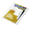 "80000 Series Legal Index Dividers, Side Tab, Printed ""34"", 25/Pack"