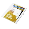 "Kleer-Fax 80000 Series Legal Index Dividers, Side Tab, Printed ""36"", 25/Pack"