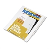 "Kleer-Fax 80000 Series Legal Index Dividers, Side Tab, Printed ""40"", 25/Pack"