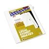 """80000 Series Legal Index Dividers, Side Tab, Printed """"52"""", 25/Pack"""