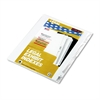 "90000 Series Legal Exhibit Index Dividers, Side Tab, Printed ""23"", 25/Pack"