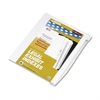 "90000 Series Alpha Side Tab Legal Index Divider, Preprinted ""A"", 25/Pack"