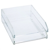 Kantek Double Letter Tray, Two Tier, Acrylic, Clear