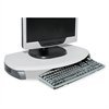 Kantek CRT/LCD Stand with Keyboard Storage, 23 x 13 1/4 x 3, Gray