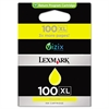 Lexmark 14N1071 (100XL) High-Yield Ink, 600 Page-Yield, Yellow