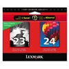 Lexmark 18C1571 Ink, 2/Pack, Black; Tri-Color