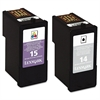 18C2239 (14,15) Ink, 150; 175 Page-Yield, Black; Tri-Color, 2/Pk