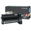 Lexmark C780A1YG Toner, 6000 Page-Yield, Yellow