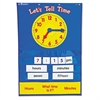 Learning Resources Teaching Time Pocket Chart with 67 Cards, 23 x 34