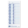 Lathem Time Time Card for Lathem Models 900E/1000E/1500E/5000E, White, 100/Pack