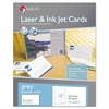 Microperforated Laser/Ink Jet Business Cards, 2 x 3 1/2, Gray, 250/Box