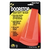 Master Caster Giant Foot Doorstop, No-Slip Rubber Wedge, 3-1/2w x 6-3/4d x 2h, Safety Orange
