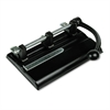 "Master 40-Sheet Lever Action Two- to Seven-Hole Punch, 13/32"" Holes, Black"